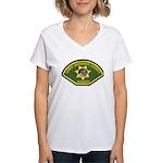 Santa Barbara Sheriff Women's V-Neck T-Shirt