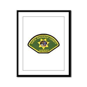 Santa Barbara Sheriff Framed Panel Print
