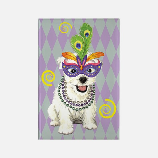 Party Westie Rectangle Magnet