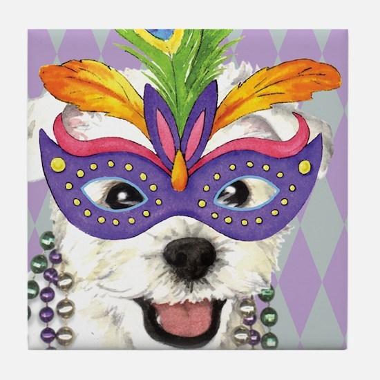 Party Westie Tile Coaster