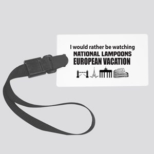 National Lampoons European Vacat Large Luggage Tag