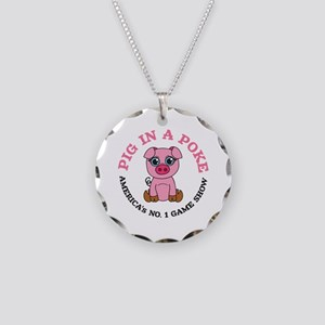 Pig in a Poke Necklace Circle Charm