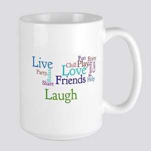 Live, Love, Laugh Large Mug