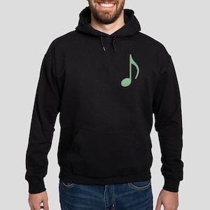 Green Eighth Note Hoodie (dark)