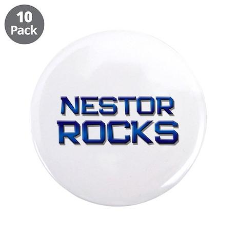"nestor rocks 3.5"" Button (10 pack)"