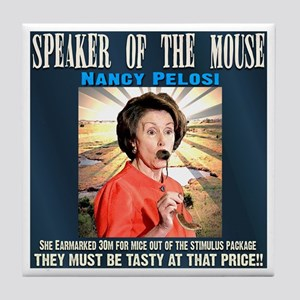 Speaker of the mouse Tile Coaster