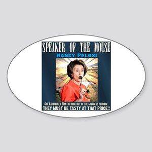 Speaker of the mouse Oval Sticker