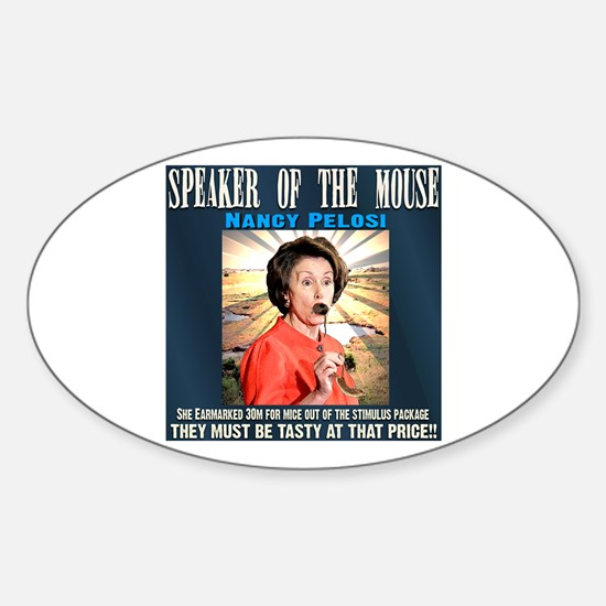 Speaker of the mouse Oval Decal