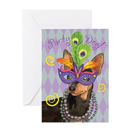 Party Min Pin Greeting Card