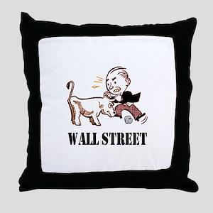 WALL STREET BULL MARKET Throw Pillow