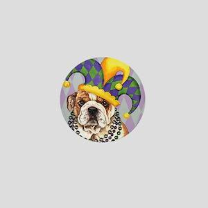 Party Bulldog Mini Button