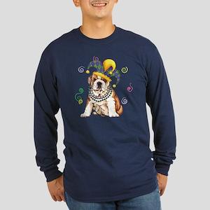 Party Bulldog Long Sleeve Dark T-Shirt
