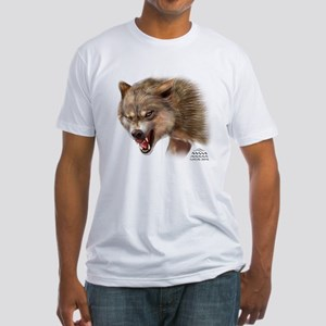 Nature Dome Men Wolf Fitted T-Shirt