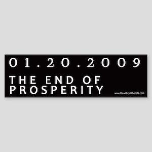 End of Prosperity - Taxpayers Bumper Sticker