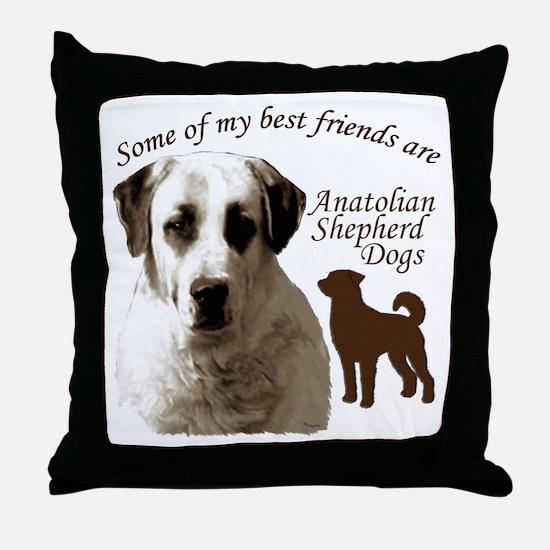 Cute Anatolian shepherd dog Throw Pillow