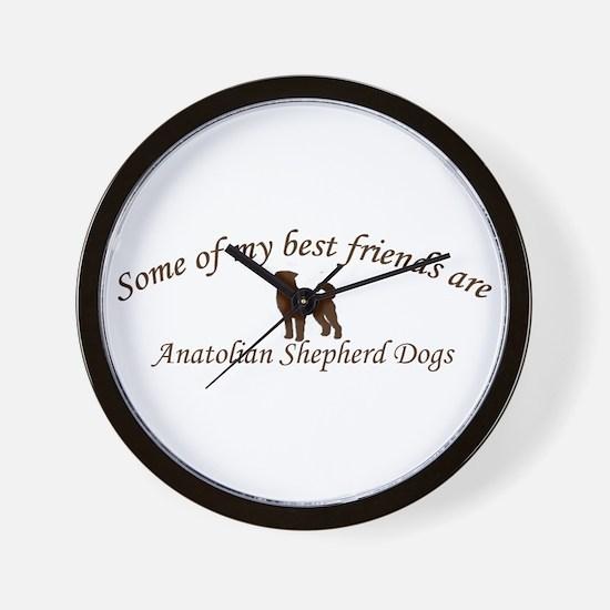 Cute Anatolian shepherd dog Wall Clock