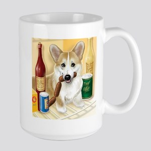 """Food Hound"" - Corgi Large Mug"