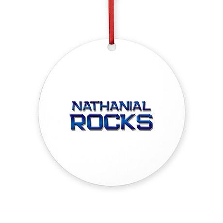nathanial rocks Ornament (Round)
