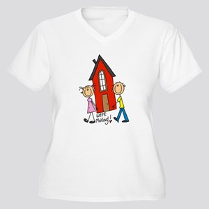 House We're Moving Women's Plus Size V-Neck T-Shir