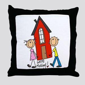 House We're Moving Throw Pillow