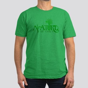 Nature is my Church Men's Fitted T-Shirt (dark)