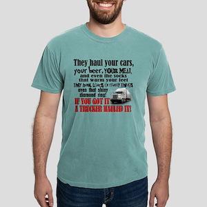 Trucker Hauled It Mens Comfort Colors® Shirt