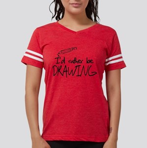 I'd Rather Be Drawing Womens Football Shirt