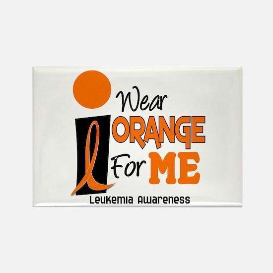 I Wear Orange For ME 9 Leukemia Rectangle Magnet