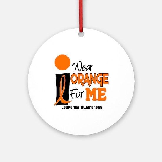I Wear Orange For ME 9 Leukemia Ornament (Round)