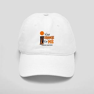 I Wear Orange For ME 9 Leukemia Cap