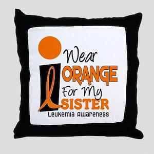 I Wear Orange For My Sister 9 Leuk Throw Pillow