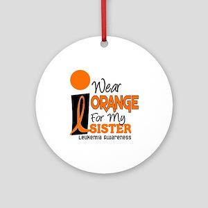 I Wear Orange For My Sister 9 Leuk Ornament (Round