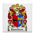 Lauridsen Coat of Arms Tile Coaster