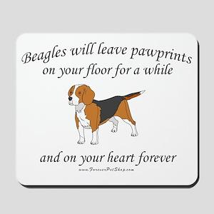 Beagle Pawprints Mousepad