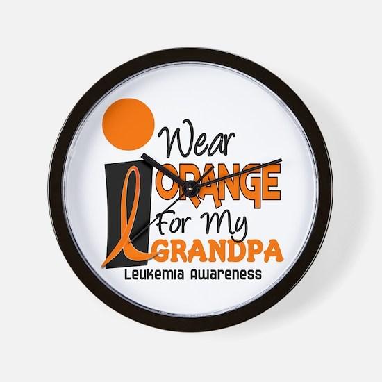 I Wear Orange For My Grandpa 9 LEUK Wall Clock