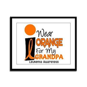 I Wear Orange For My Grandpa 9 LEUK Framed Panel P