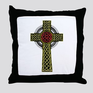 Celtic Knot Cross Throw Pillow