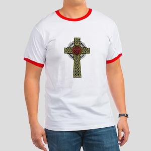Celtic Knot Cross Ringer T