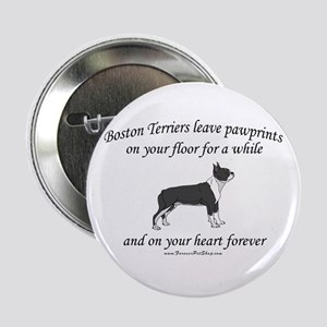 "Boston Terrier Pawprints 2.25"" Button"
