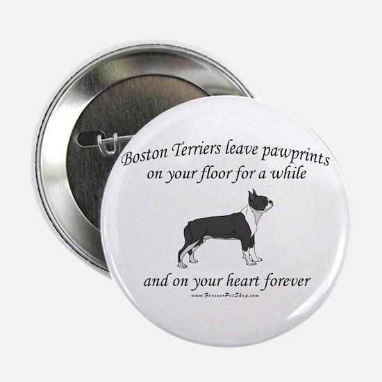"Boston Terrier Pawprints 2.25"" Button"