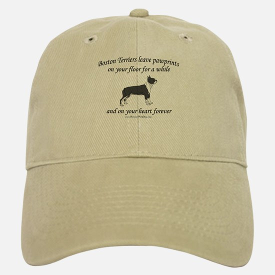 Boston Terrier Pawprints Baseball Baseball Cap