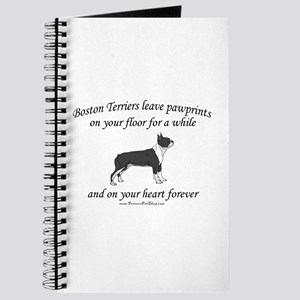 Boston Terrier Pawprints Journal