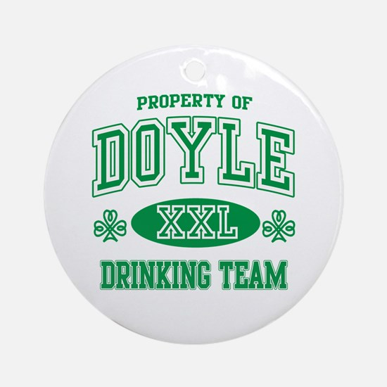 Doyle Irish Drinking Team Ornament (Round)
