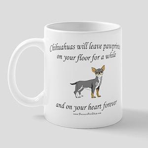 Chihuahua Pawprints Mug