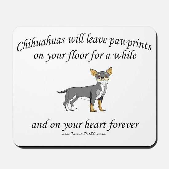 Chihuahua Pawprints Mousepad
