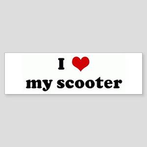 I Love my scooter Bumper Sticker