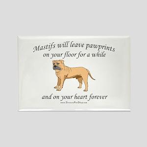 Mastif Pawprints Rectangle Magnet