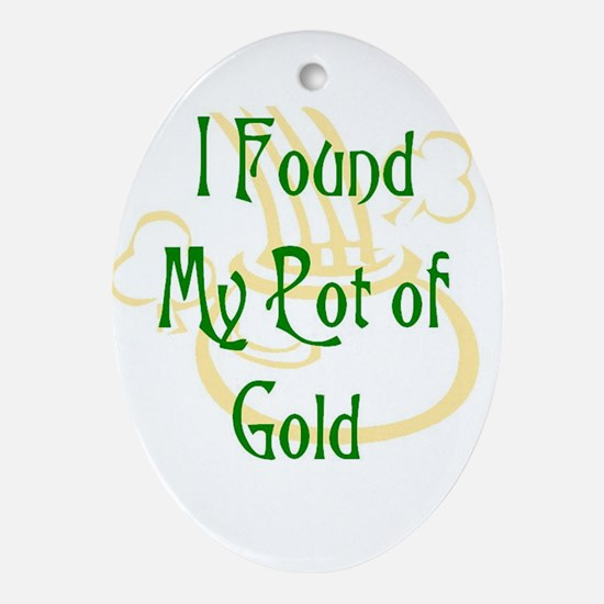 Pot of Gold Oval Ornament