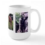 Large Mug - 3 giraffe images and URL
