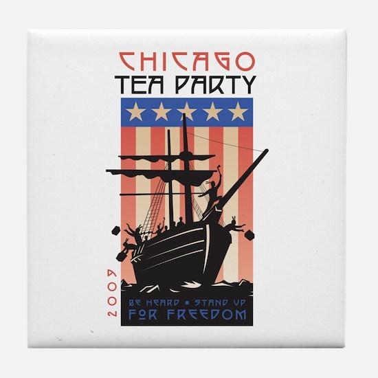 Chicago Tea Party 2009 Tile Coaster